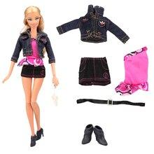 цена Fashion Handmade Doll accessories Kids Toys For Girl Dolls clothes accessory Shoes For Barbie Dressing Game DIY Birthday Present онлайн в 2017 году