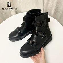 Martin botas novas outono inverno flat-bottom curto tubo par sapatos moda fivela cinta preto fino botas curtas homem e mulher