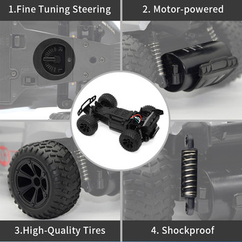 JJRC-Q88 4WD RC Car 1:22 15km/h High-speed Racing 2.4G Off-road Outdoor Remote Control Car Climbing Car Children Toy With Light 3