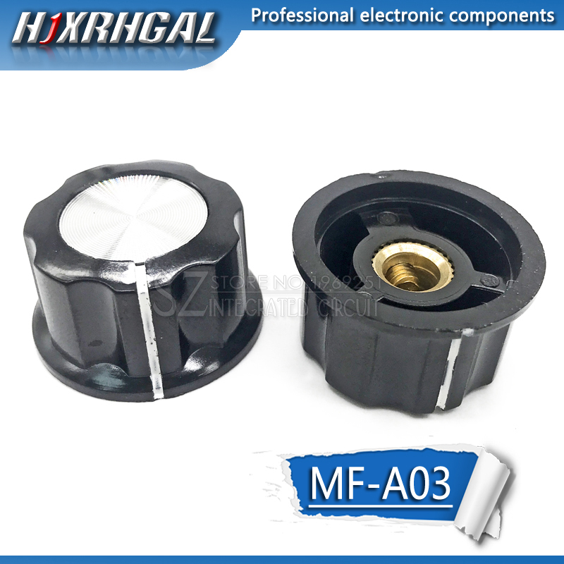 1pcs Hat MF-A03 Potentiometer Knob WH118/WX050 Bakelite Knob / Copper Core Inner Hole 6mm Hjxrhgal