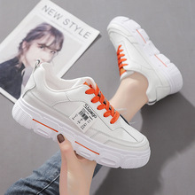 New Women Platform Shoes Fashion Sneakers Spring Autumn Woman Flats Shoes Ladies White Shoes Casual Low Cut Student Trainers spring autumn 2019 women shoes flats platform shoes woman fashion sneakers lace up low cut casual white shoes luxury designers
