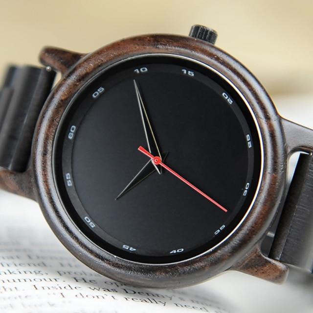 BOBO VOGEL Männlich Hohe Qualität armbanduhr Mann Bambus Holz Uhren Männer in geschenk Holz box erkek kol saati relogio masculino