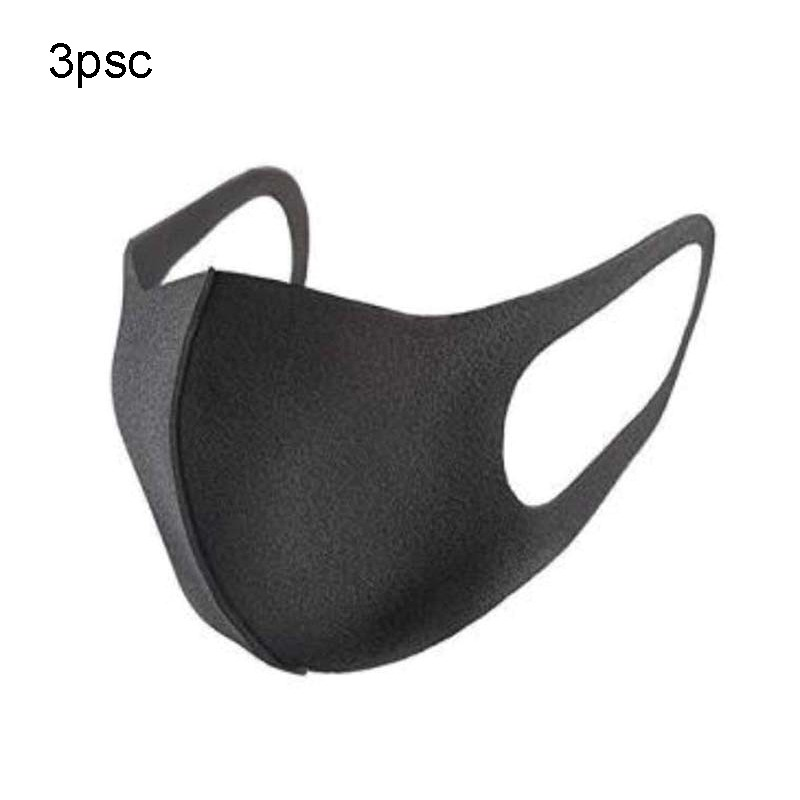 3pc/lotUnisex Mouth Masks Anti Dust Face Mouth Cover PM2.5 Mask Dustproof Anti-bacterial Outdoor Cycling Travel Protection