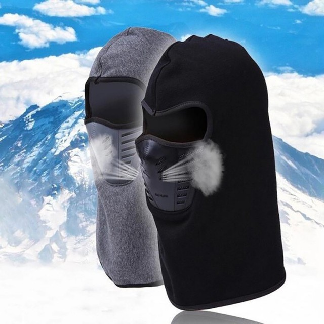 Outdoor Winter Warm Motorcycle Full Face Mask  Bicycle Bike Climbing Ski Windproof Carbon Filter Mask Balaclava Head Protector 5
