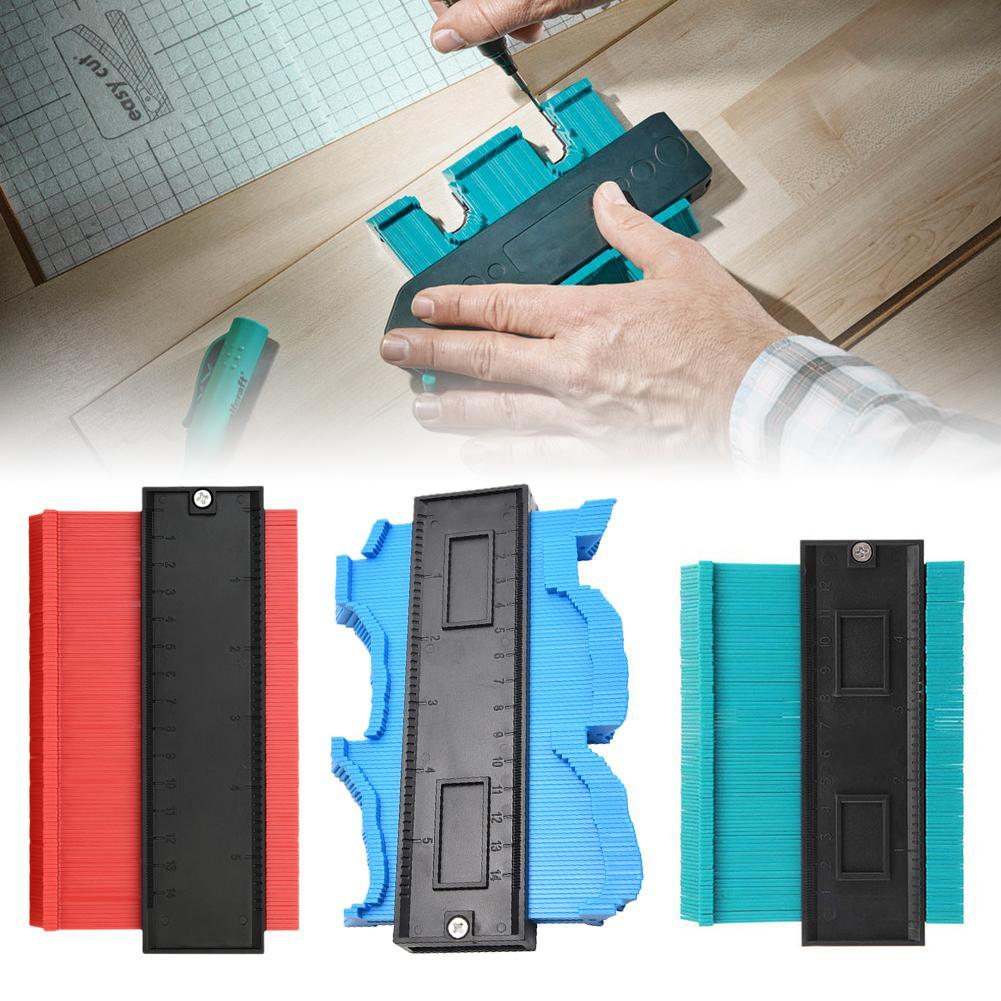 Contour Gauge Profile Gauge Shape Duplicator 10 Inch(25cm) Plastic Woodworking Shape Tracing Template Measuring Tool Precisely C