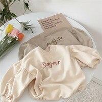 Korean Japan Style Newborn Lovely Jumpsuit Autumn Toddler Cotton Long Sleeves Bodysuit Baby Girl Triangle Climbing Clothing