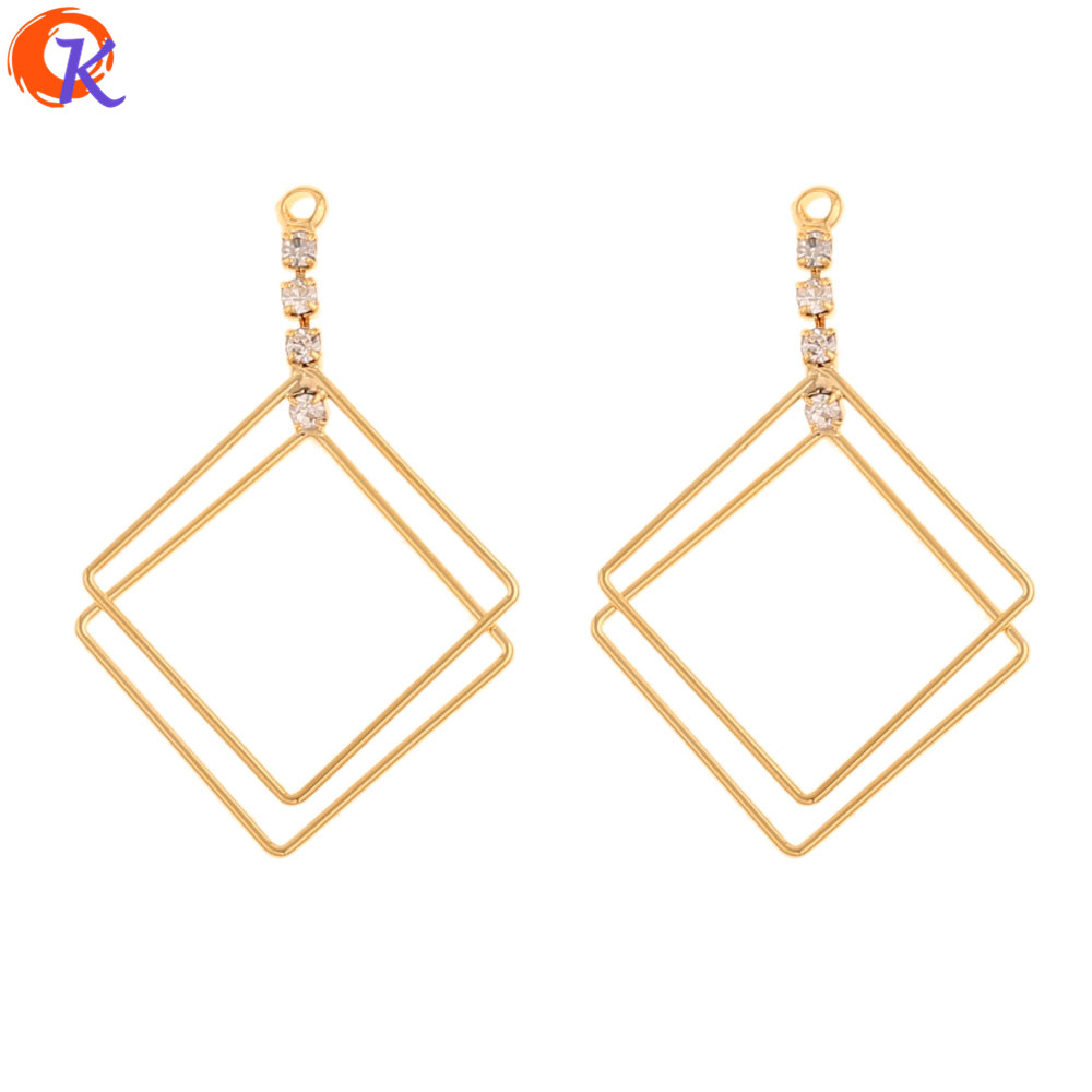 Cordial Design 30Pcs 25*38MM Jewelry Accessories/DIY Connector Making/Genuine Gold Plating/Loop Shape/Hand Made/Earring Findings