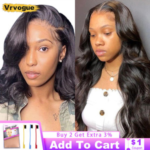 Body Wave Short Bob Wigs Brazilian Human Hair Wigs Pre Plucked Hairline Natural 4x4 Lace Closure Wigs For Black Women Vrvogue