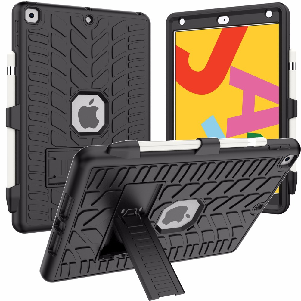 Case 8th 10.2 iPad Generation Pattern Pencil Holder For Tire with Hard Shockproof 2020