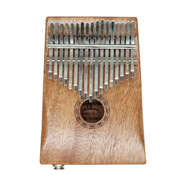17 Keys Kalimba Mbira Thumb Finger Piano Portable Solid Wood Rechargeable Musical Instrument Gift for Music