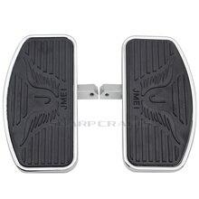 2 ขนาดผู้โดยสารด้านหลังรถจักรยานยนต์ Footpegs Floorboards Footboards สำหรับ Yamaha Dragstar V Star DS400 DS650 DS1100 Virago 250 XV250