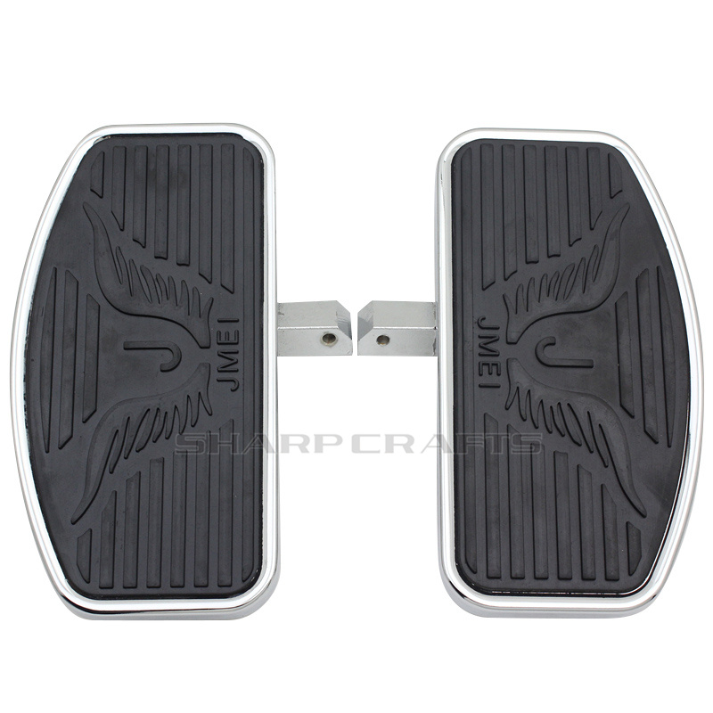 2 Size Motorcycle Rear Passenger Footpegs Floorboards Footboards For Yamaha Dragstar V-Star DS400 DS650 DS1100 Virago 250 XV250