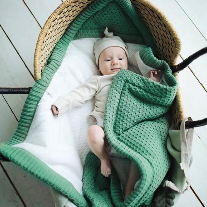 Baby Knitted Sleeping Bag Stroller Blanket Wrap Non-woven Mattress Newborn Bedding Swaddle Envelope Kid Warm Accessories