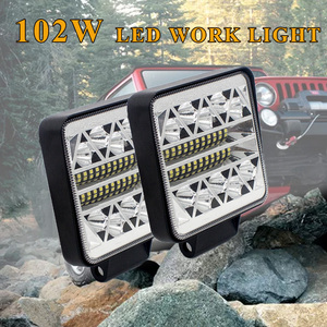 Image 2 - Car Led Light Bar 12V 24V 102W Work Light for Tractors Headlight Led Offroad Accessories Daytime Running Lights auto led ramp