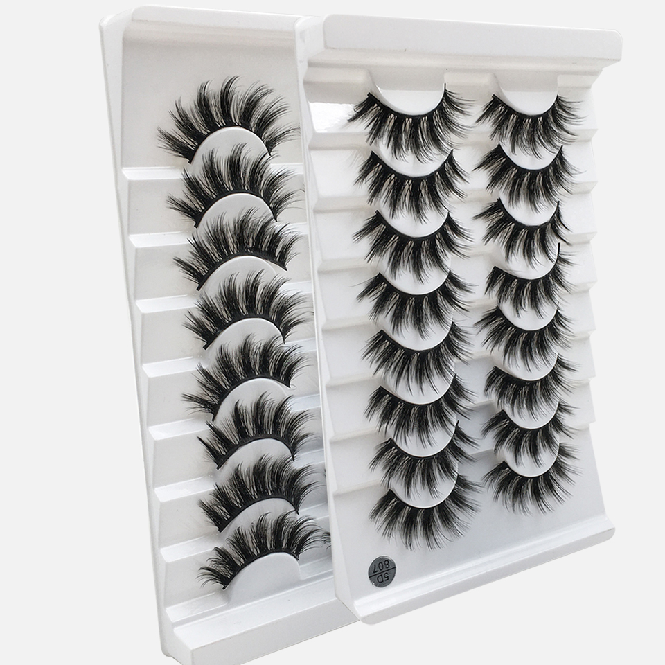 8 Pairs 3D Mink Lashes Natural False Eyelashes Dramatic Volume Fake Lashes Makeup Eyelash Extension Silk Eyelashes