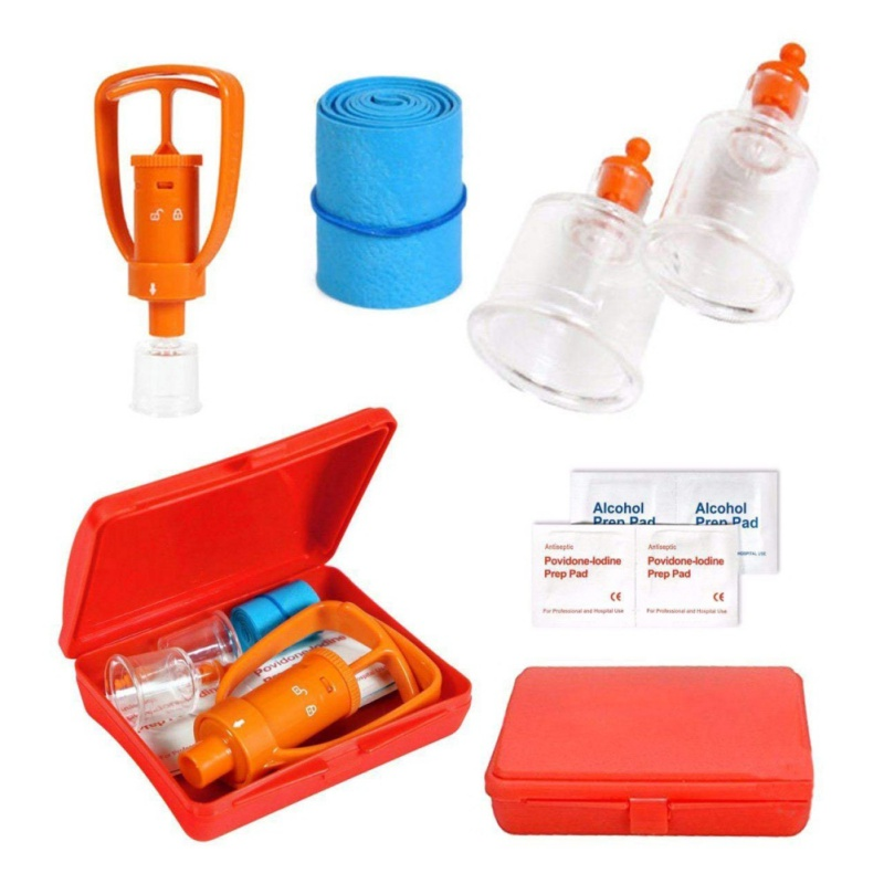 Outdoor Emergency Venom Suction Device Wild Poisonous Snake Bee Bite Vacuum Detoxification Device Safety First-aid Tool