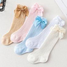 Baby Socks High-Mesh Princess Summer Knee Thin Boneless Anti-Mosquito Bowknet