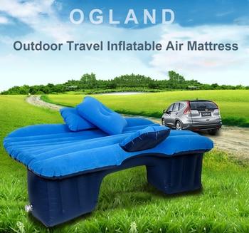 Flocking Cloth Car Air Inflatable Travel Mattress Bed for Car Back Seat Mattress Multifunctional Sofa Pillow Outdoor Camping Mat