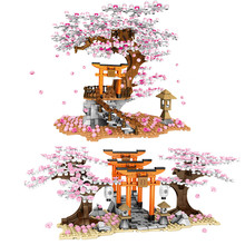 Ideas City Street View Sakura Stall Inari Shrine Tree House Building Blocks kit Bricks Cherry blossom Friends Toys for Children