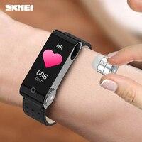 SKMEI Sports Watch schermo da 1.14 pollici Bluetooth 5.0 Smart Watch braccialetto intelligente ricaricabile per la frequenza cardiaca con auricolari Wireless