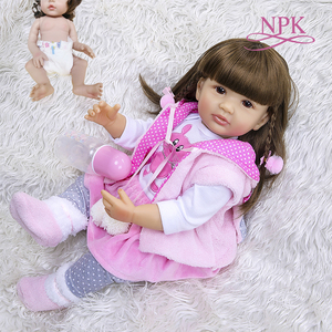 55CM new full body slicone like real soft touch reborn baby girl bebe doll reborn Bath toy