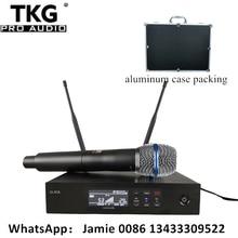 Qlxd4 QLXD4 BE87a professionelle uhf outdoor wireless mikrofon für karaoke