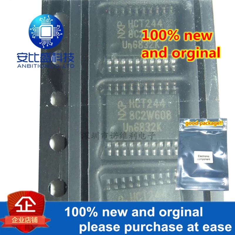 10pcs 100% New And Orginal 74HCT244PW HCT244 TSSOP20 In Stock