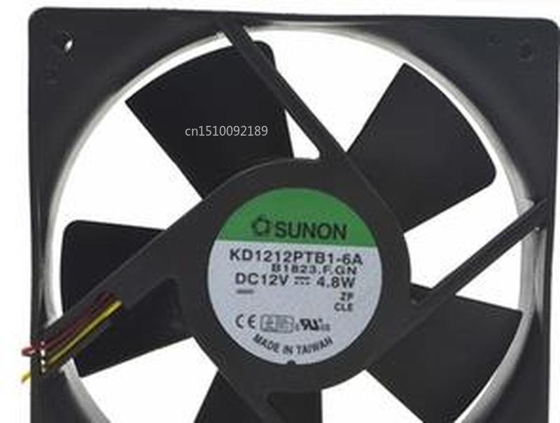 For KD1212PTB1-6A Chassis Cooling Fan DC 12V 0.4A 4.8W 1600RPM 12025 12CM 120*120*25mm 3 Wires Free Shipping