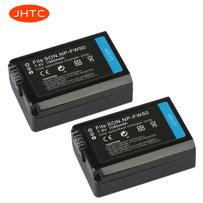 NP-FW50 Batteries Rechargeable Battery For Sony Alpha A6500 A6300 A6000 A5000 A3000 NEX-3 A7R Battery 1080mAh NP FW50