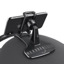 Suporte do telefone móvel do carro hud snap-on painel de instrumentos clipe de carro suporte de navegação do telefone móvel suporte de carro universal