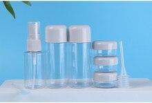 8 pçs portátil recarregável garrafa de viagem recipiente spray garrafa pressão spray atomizador água rosto caixa creme vara conjunto txtb1