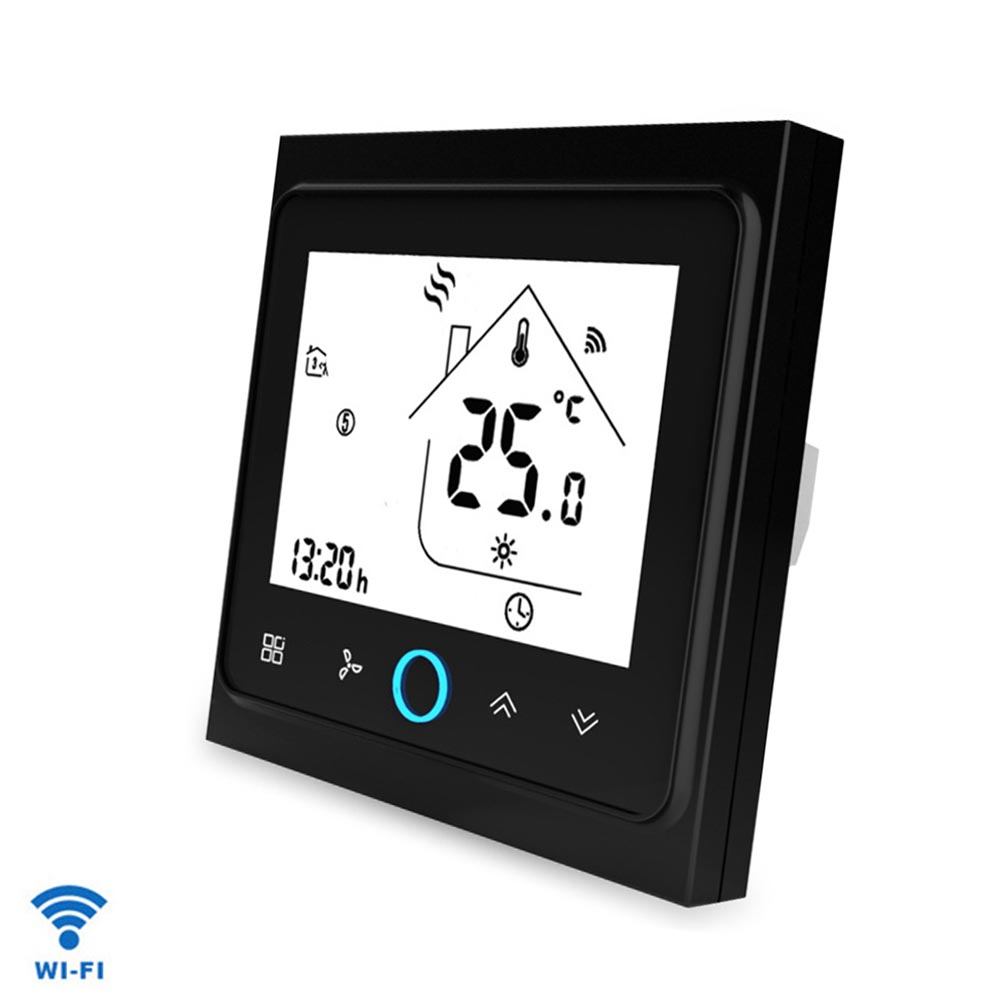 Wireless Smart Thermostat Touch Control Household Air Conditioner Universal WIFI Backlight LCD Screen Electric For Google Home