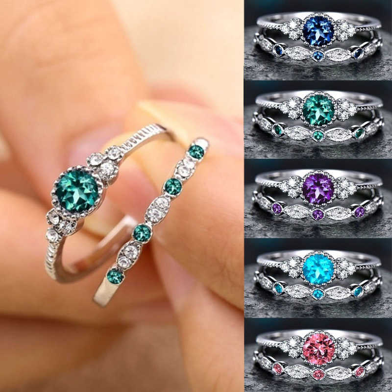 BRAND NEW Sterling Silver Round Cut CZ Engagement Ring Size 5 6 7 8 9
