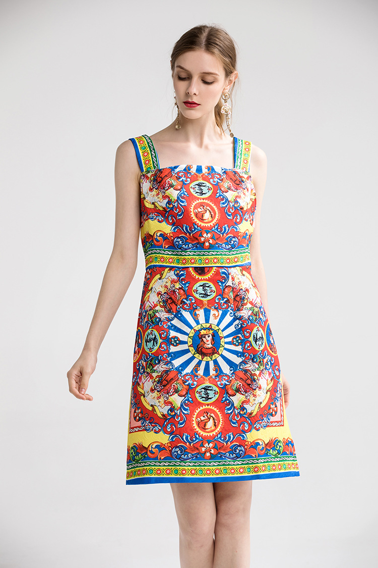 Fashion New Women's Beauty Diligital Printing <font><b>Dresses</b></font>,<font><b>Sexy</b></font> <font><b>Spaghetti</b></font> <font><b>Strap</b></font> Lady and Girl's <font><b>Mini</b></font> <font><b>Dress</b></font>,Nice <font><b>Casual</b></font> <font><b>Dress</b></font> image