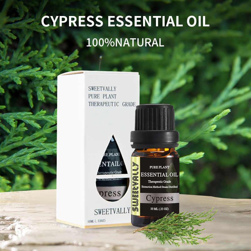 10ml huile essentielle pour diffuseur brûleur organique soulager le Stress Air rafraîchir humidificateur huile 100% Pure cyprès huile naturelle