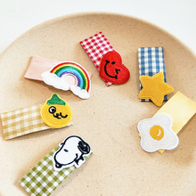 1pc Girls Cartoon Hair Clips Safe Full-warped Baby Princess Headdress Kids Children Cute Accessories Barrettes