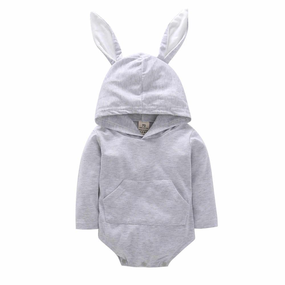 Zomer 2020 Baby Jongens Bodysuit Mode Baby Meisje Jongen Kleding Schattige Konijn Oor Pasgeboren Onesie Body Pak Lange Mouw Bodysuits