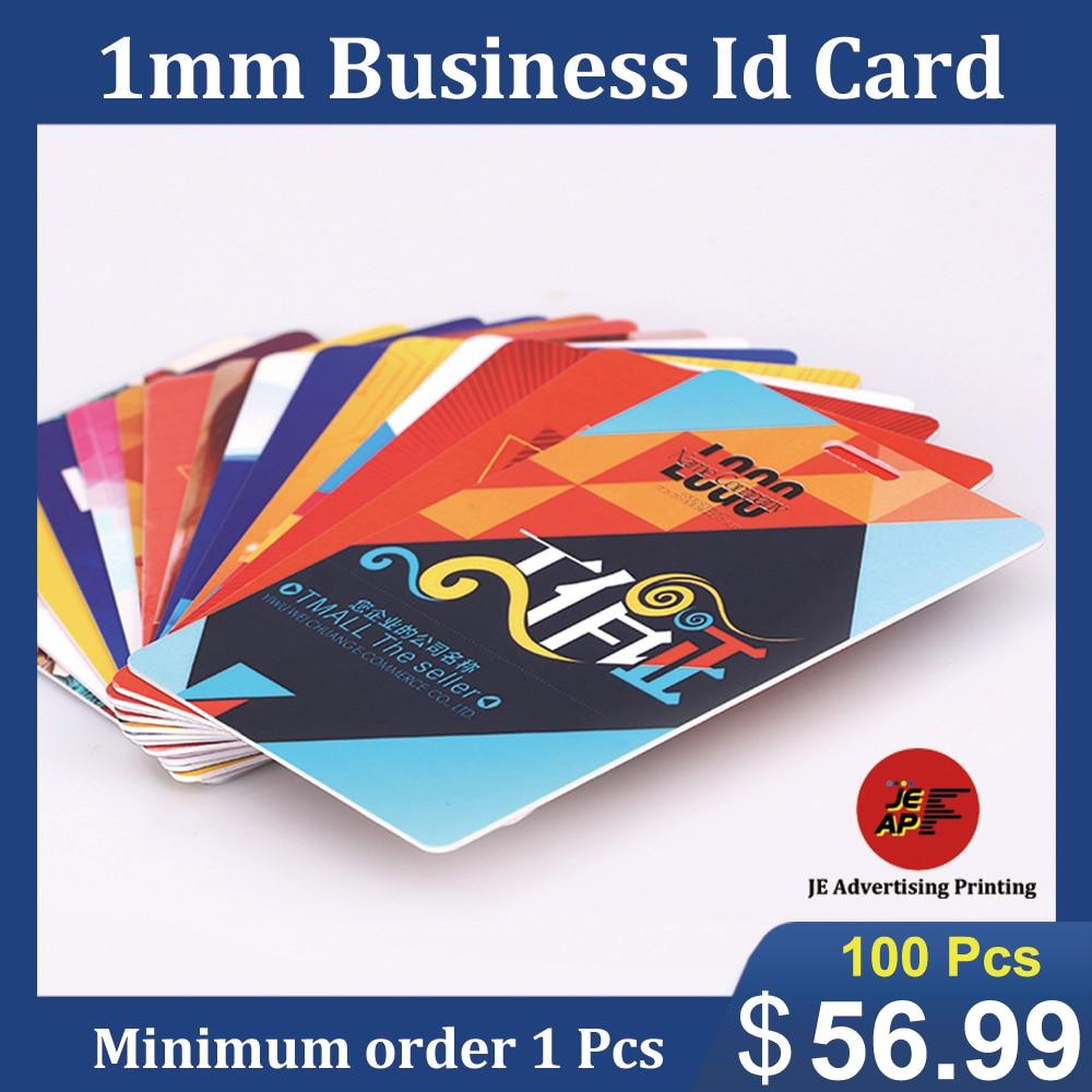 Custom PVC Staff ID Cards Business Plastic Printing Company Work Name Cards Waterproof 1mm Thickness MOQ 1 Pcs
