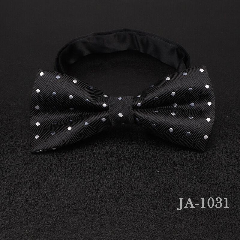Дизайнерский галстук-бабочка, высокое качество, мода, мужская рубашка, аксессуары, темно-синий, в горошек, галстук-бабочка для свадьбы, для мужчин,, вечерние, деловые, официальные - Цвет: 1031