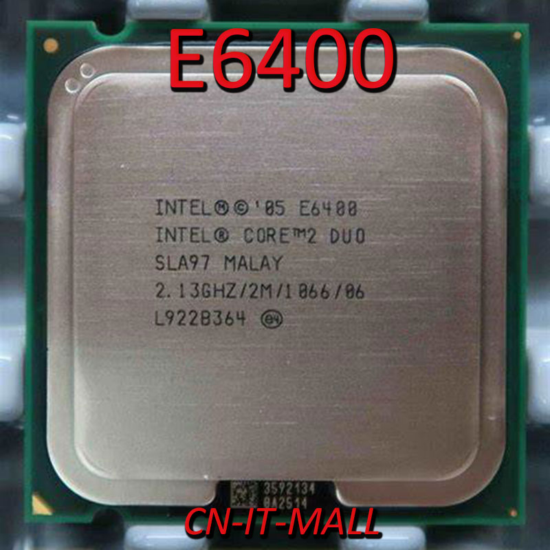 Pull Core E6400 CPU 2,13 ГГц 2 м 2 ядра 2 потока LGA775 Процессор
