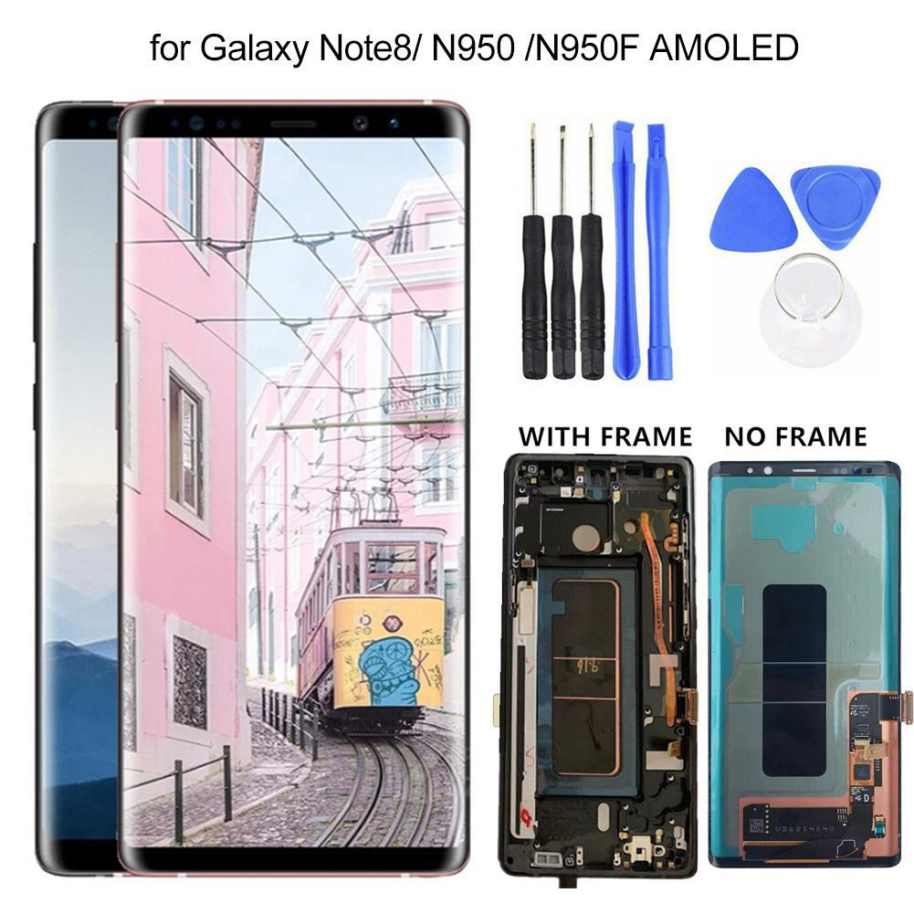New Replacement AMOLED Touch <font><b>Screen</b></font> Digitizer with/without Frame <font><b>for</b></font> <font><b>Samsung</b></font> <font><b>Galaxy</b></font> <font><b>Note</b></font> <font><b>8</b></font> N950 <font><b>N950F</b></font> AMOLED <font><b>Screen</b></font> with Tools image