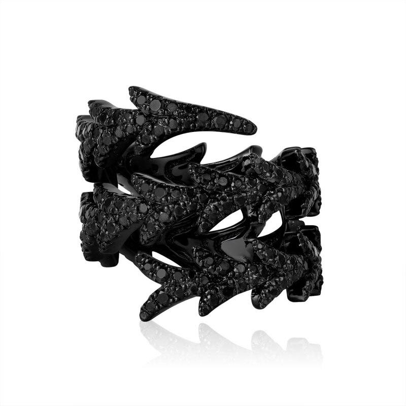 Breloque de mode en argent Sterling copie 1:1 réplique, argent noir spirale Dragon queue anneau femmes Monaco bijoux cadeau avec Logo - 3