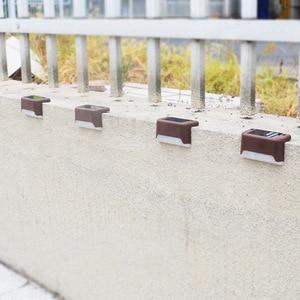 Image 4 - 12 יח\חבילה שמש אור חיצוני עמיד למים חצר מדרגות אור גן גדר שמש מנורה