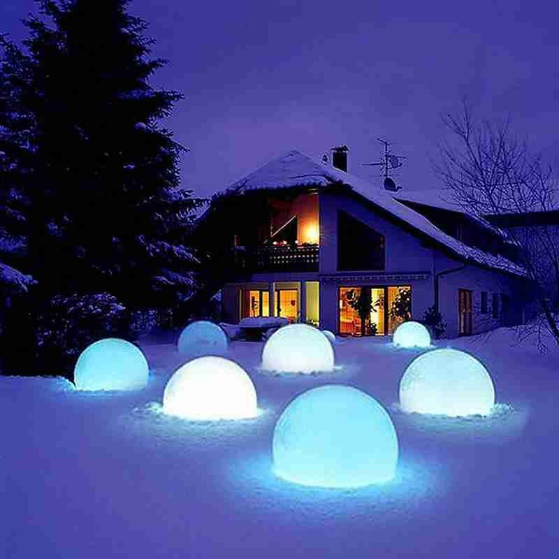 Led Ball Toy Funny Inflatable Luminous Pvc Beach Balls  For Outdoor Swimming Pool Decorative Glowing Remote Control Ball Toys