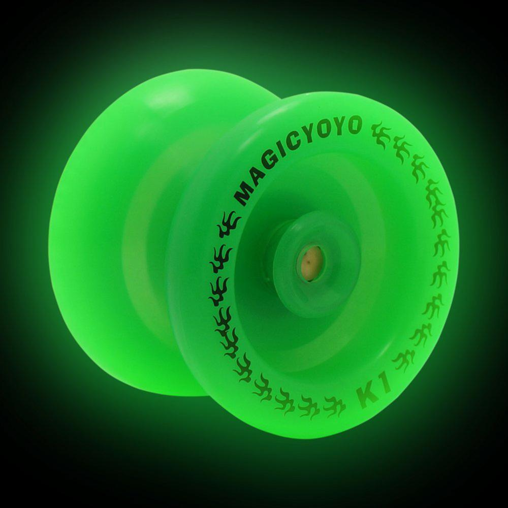MAGICYOYO Professional K1 ABS YoYo Glow in the Dark Green YoYo Spin Ball for beginner player Children Xmas Gifts(China)