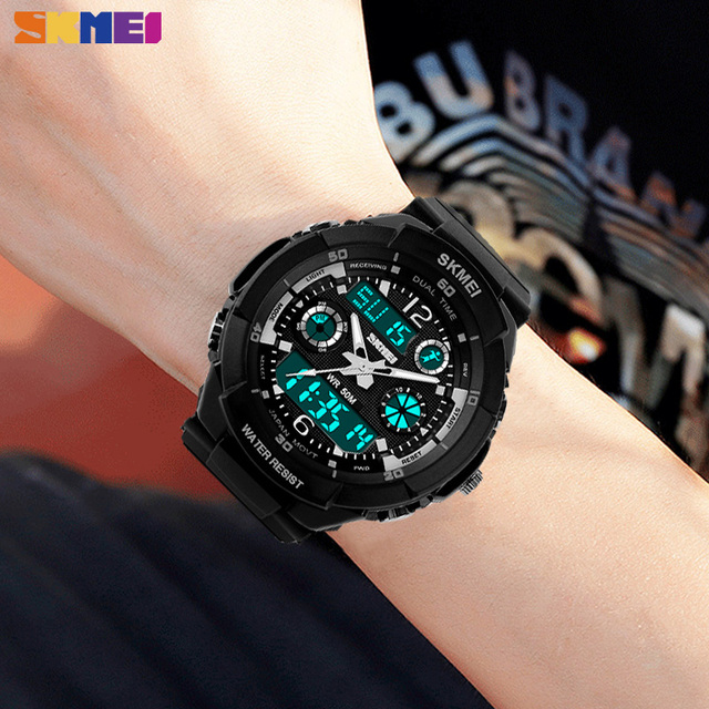 SKMEI Kids Watches Anti-Shock 5Bar Waterproof Outdoor Sport Children Watches Fashion Digital Watch Relogio Masculino 0931 1060 4
