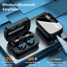 Newest Wireless Bluetooth 5.1 Earphone TWS Headphone HIFI Mini In ear Sport Running Headset Support iOS/Android Phones HD Call