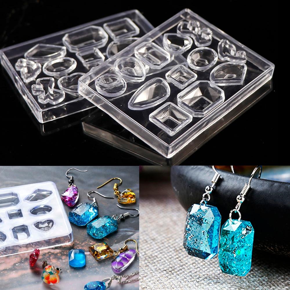 1PCDIY Jewelry Tool Geometric Jewelry Mold Pendant Earring Silicone Resin Craft Making Tool Handmade Decoration Epoxy Resin Mold