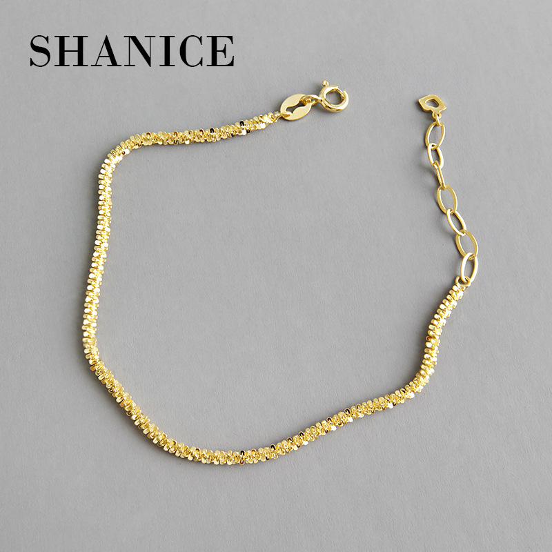 SHANICE Genuine 100% 925 Sterling Silver Chain Punk Temperament small star cauliflower Bracelets for Women Fashion Simple Wrist