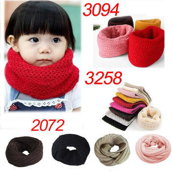 Winter Warm Soft Knit Neck Warmer Circle Women Wrap Cowl Loop Snood Shawl Wool Blend Scarf for Men Childs - discount item  10% OFF Scarves & Wraps